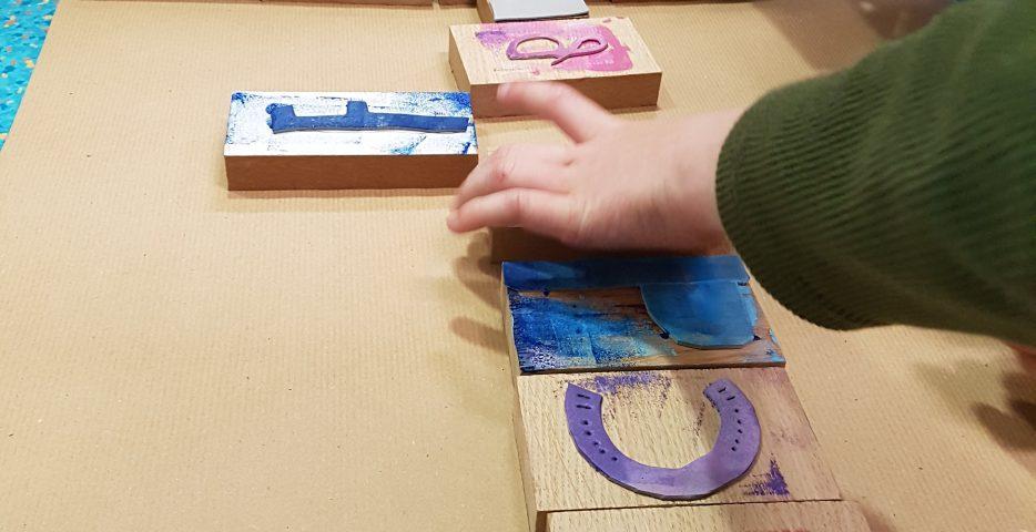 workshop letters en stempels ontwerpen kinderen