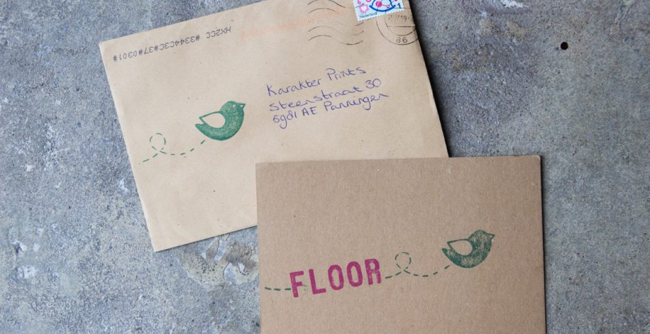Stempels voor geboortekaartje en enveloppen
