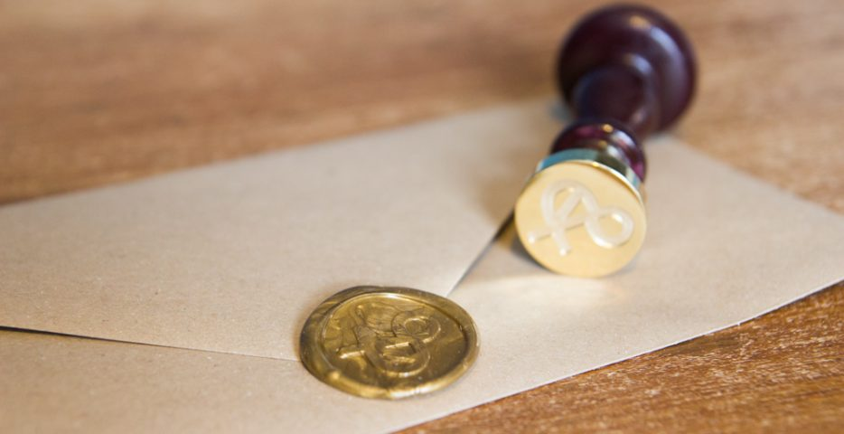 Op maat gemaakte lakstempel met logo
