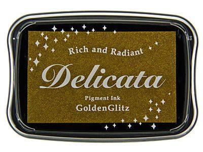 Delicata Metallic stempelinkt Golden Glitz goud