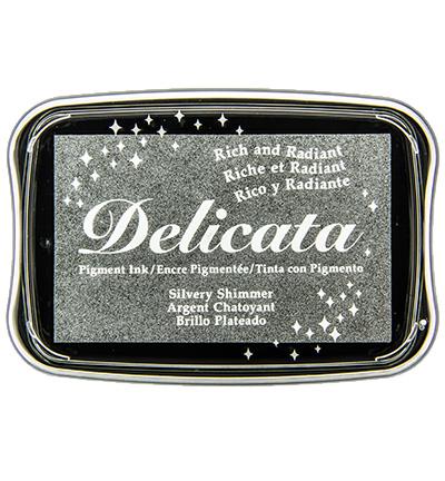 Delicata Metallic stempelinkt Silvery Shimmer zilver
