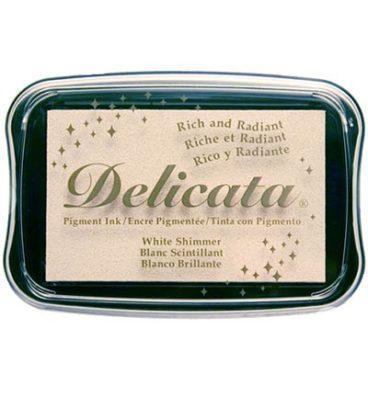 Delicata Metallic stempelinkt White Shimmer wit