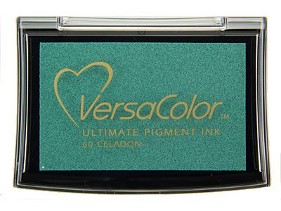 Versacolor Celadon blauw groen stempelkussen