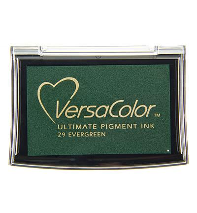 Versacolor Evergreen donkergroen stempelkussen