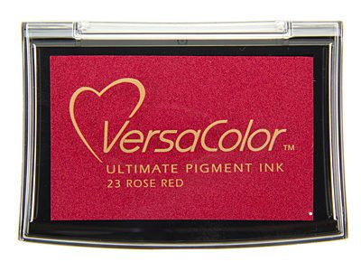 Versacolor Rose Red rood stempelkussen