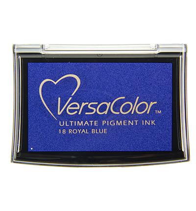 Versacolor Royal blue donkerblauw stempelkussen