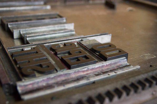 Letterpress proces Karakter Prints
