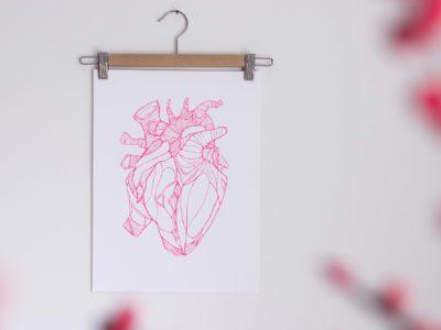 Letterpress print Amber Delahaye