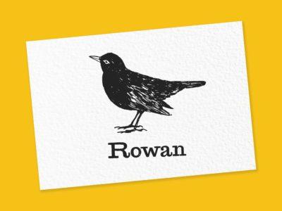 Vogel naamstempel laten maken