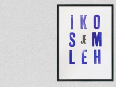 Lttrprint Letterpress poster Ik omhels je
