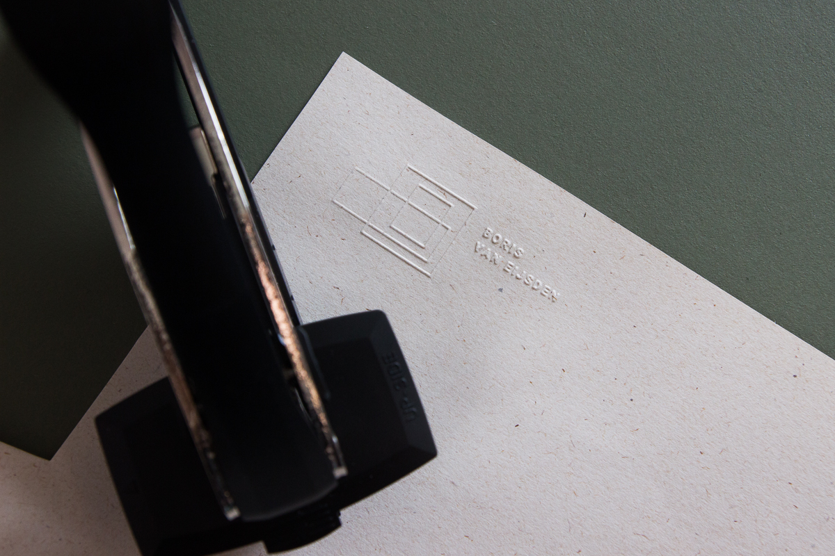 details van een preegstempel