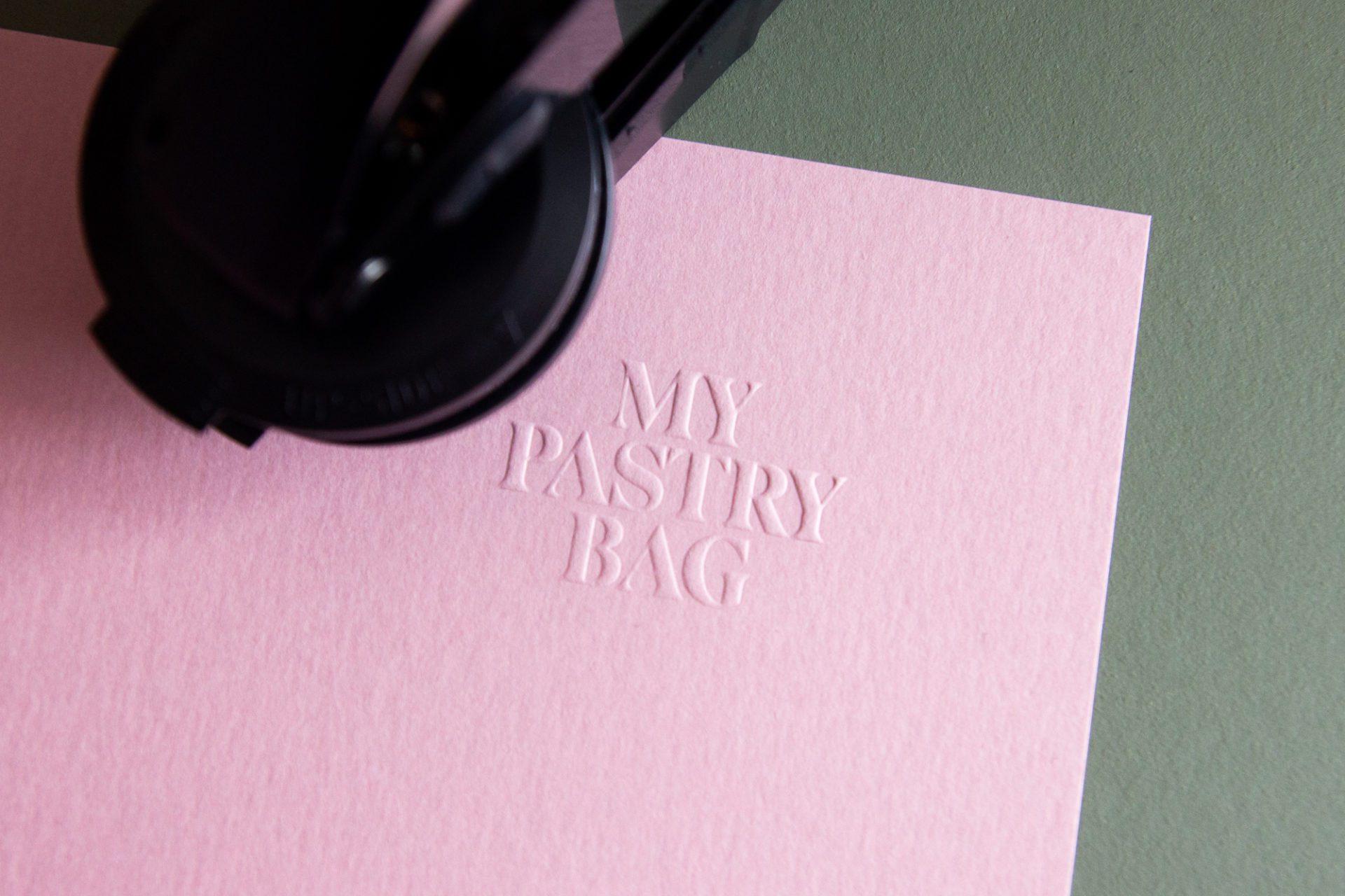 relief in papier drukken stempel
