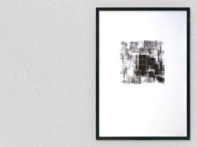 Letterpress print achterkant houten letters