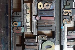Drukken met houten letters