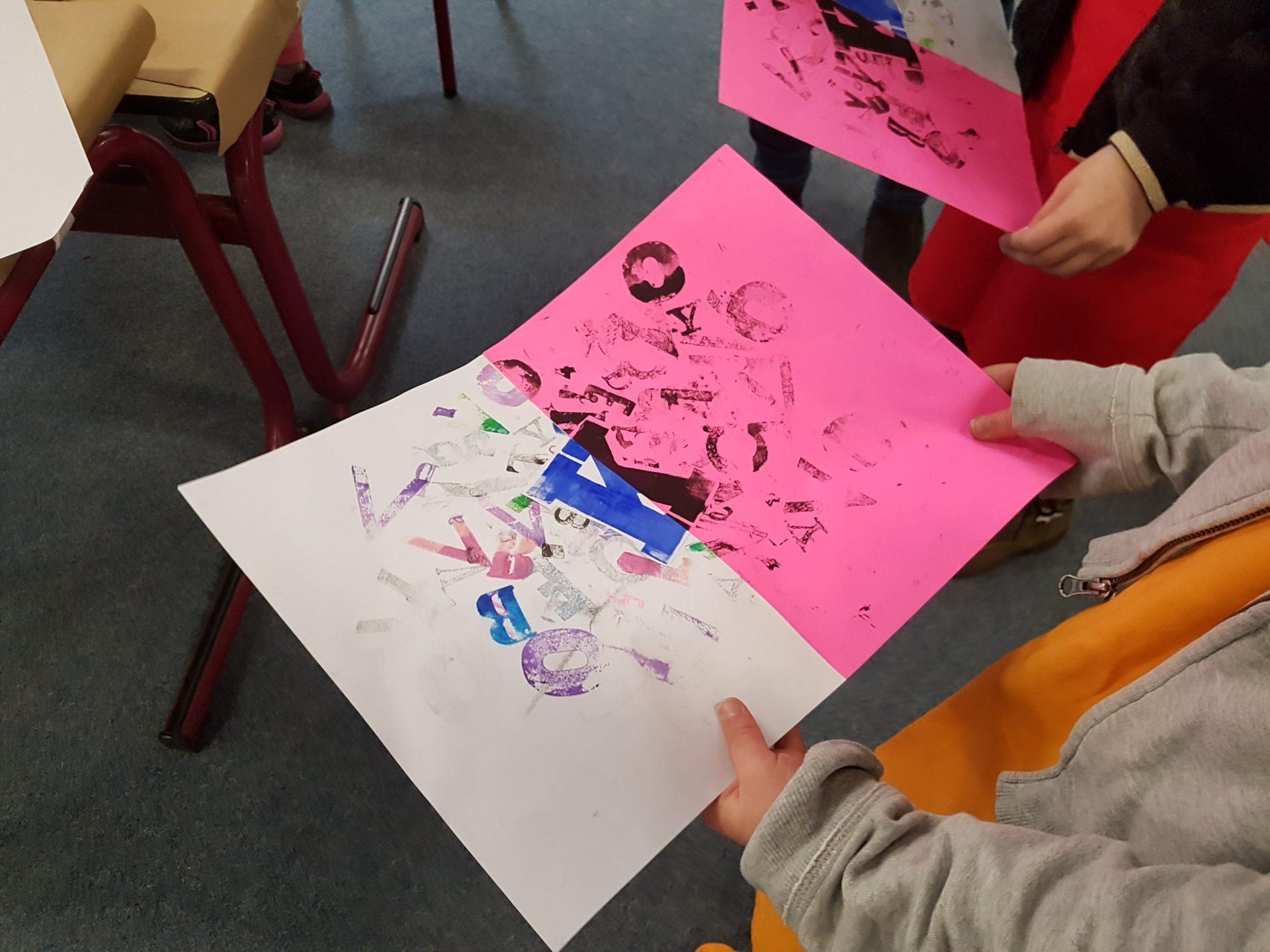 Meer doen met letters workshop op school