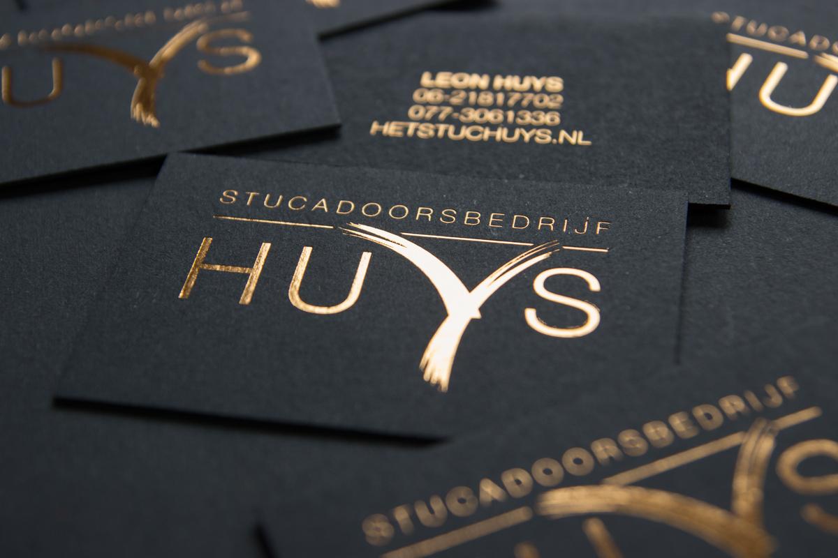 Luxe visitekaartjes met koperfolie voor Huys