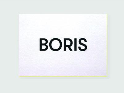strak geboortekaartje zwart wit letterpress