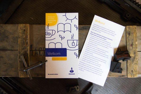 drukwerk op dik gerecycled papier