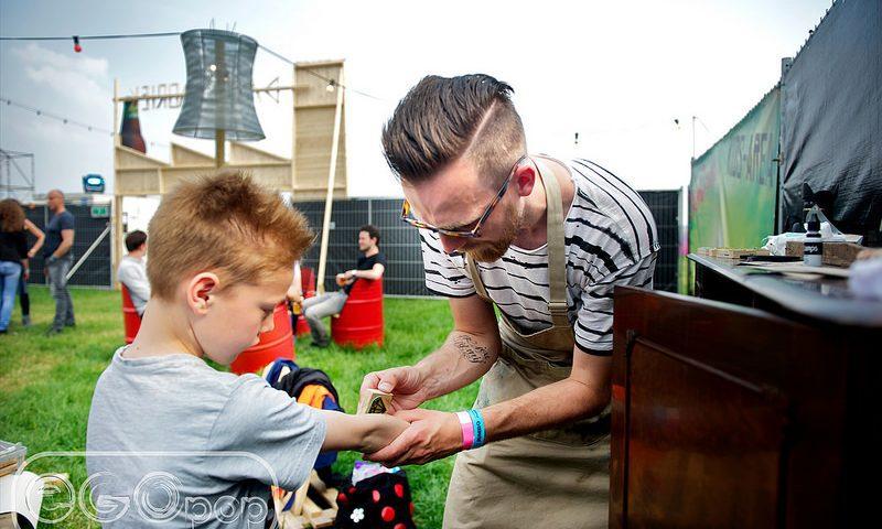 Tattoo stempels op festival Egopop