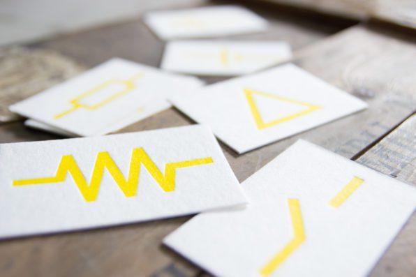 Letterpress visitekaartjes op dik papier voor ECI