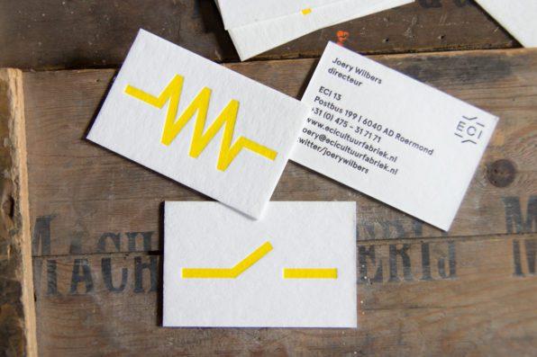 Letterpress visitekaartjes voor ECI Roermond