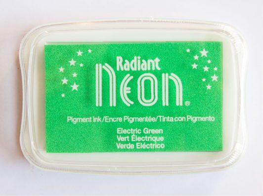 Radiant Neon Green fluor groen stempelkussen