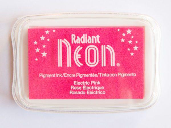 Radiant Neon Pink fluor roze stempelkussen