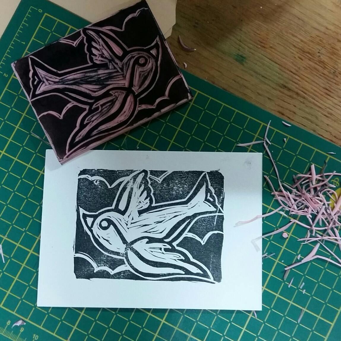 Stempelworkshop bij Karakter Prints