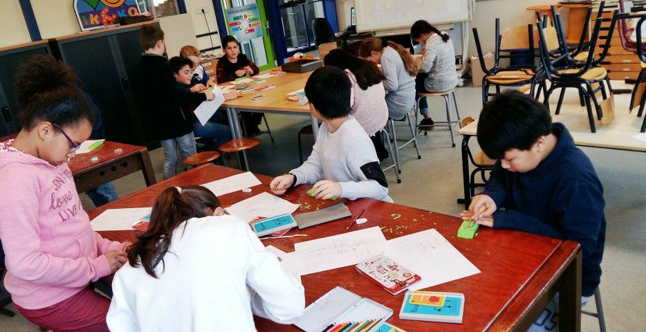Stempelworkshop op basisschool
