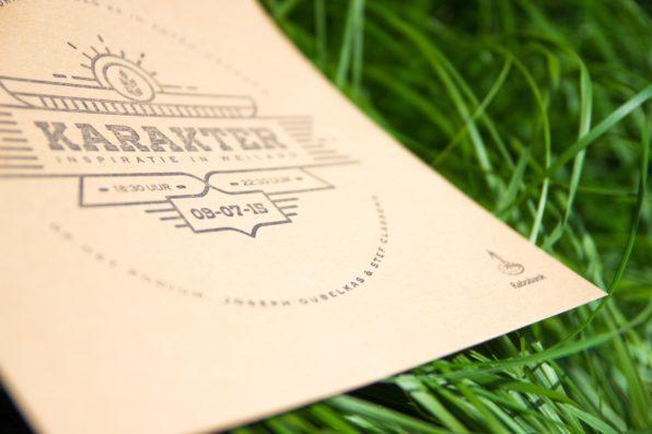 Letterpress uitnodiging voor Rabobank
