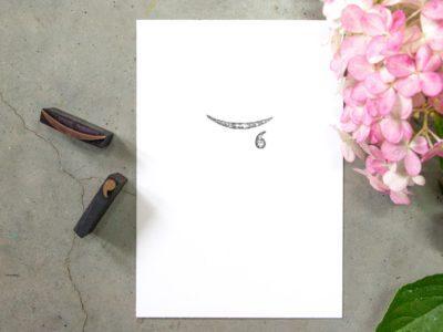 Letterpress handgedrukte rouwkaart