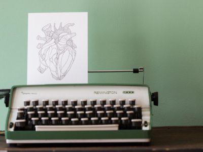 Letterpress print Amber Delahaye Hart