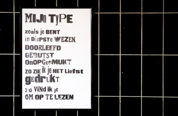 Lttrprints Mijn Type letterpress poster