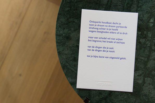 Lttrprints letterpress poeziekaart Onbeperkt houdbaar