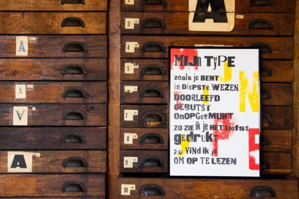 Lttrprints letterpress poezieposter Mijn Type
