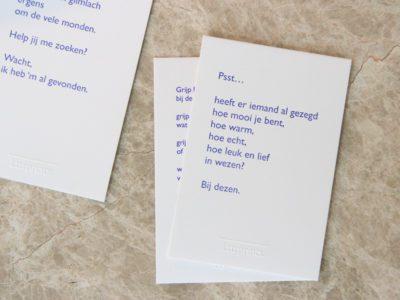 Lttrprints poeziekaart Psst