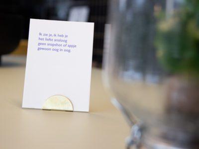 Lttrprints letterpress poeziekaart Ik zie je