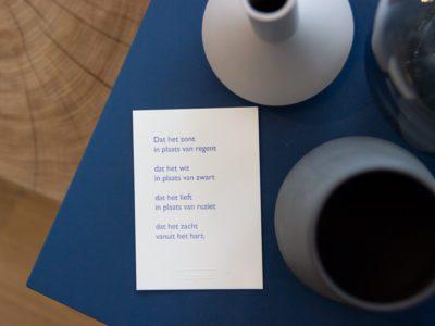 Lttrprints letterpress poeziekaart Dat het zont