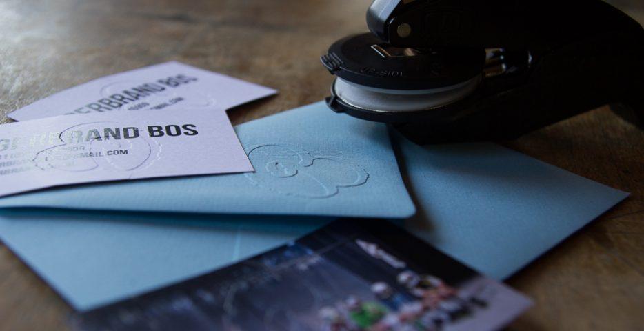 Preegstempel voor enveloppen en visitekaartjes Karakter Prints