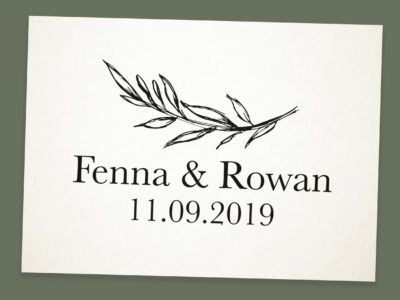 trouwstempel gepersonaliseerd save the date