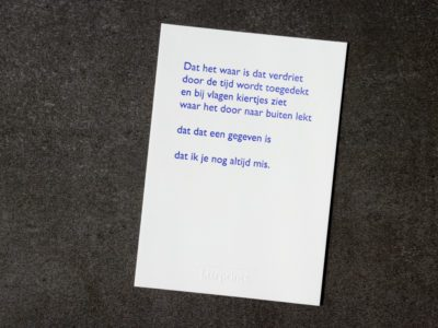 Lttrvreters gedicht wenskaart Lttrprints poëziekaart rouw verdriet