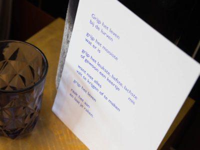grijp het leven tekst poezie print