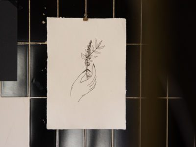 letterpress print handgeschept papier a3