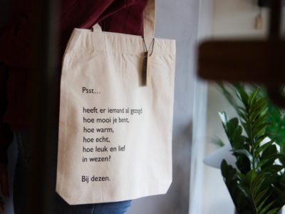tas poezie tekst met zeefdruk Lttrprints
