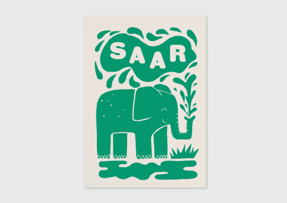 origineel letterpress geboortekaartje stempel