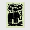 origineel stoer geboortekaartje letterpress