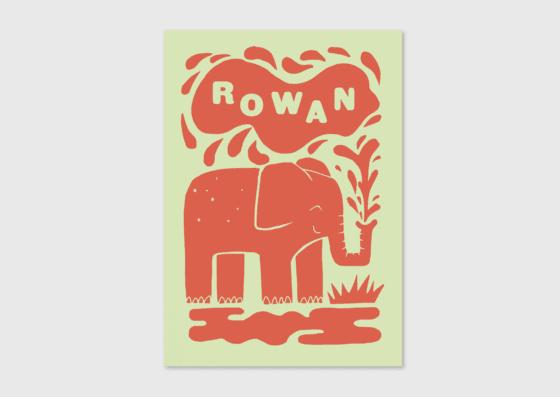 retro geboortekaartje letterpress