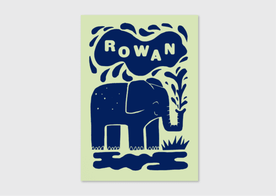 origineel geboortekaartje olifantje