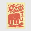 geboortekaartje bijzondere kleurencombinatie letterpress olifantje