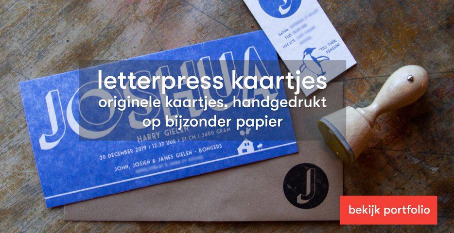 handgedrukte letterpress geboortekaartjes